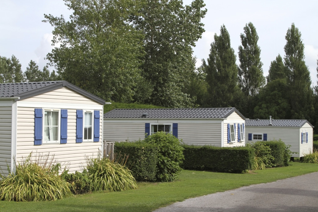 Static vacation or holiday caravans in a well tended and tranquil country woodland setting
